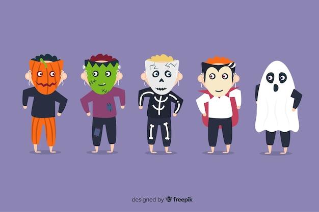 Colección de disfraces de niños de halloween