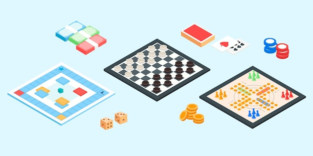 Colección diversa de juegos de mesa