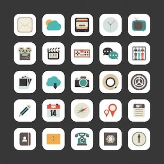 Colección de diversos iconos