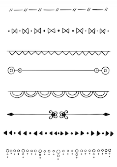 Colección divisor dibujado a mano