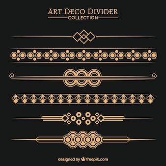 Colección de divisores en estilo arte deco