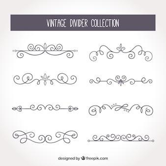 Colección de divisores vintage