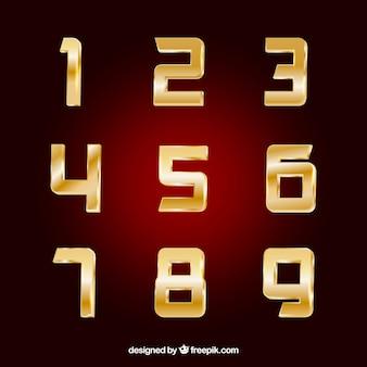 Colección dorada de números