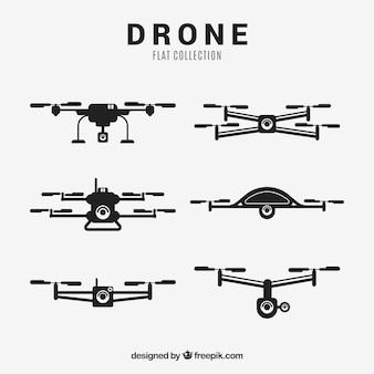 Colección de drones con estilo elegante