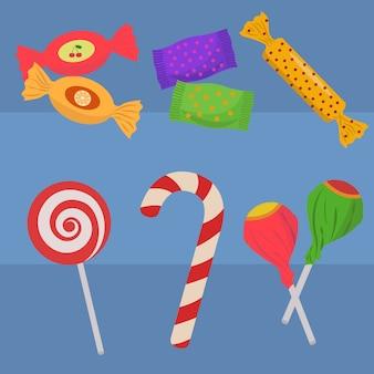 Colección de dulces a color