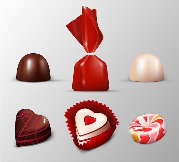 Colección de dulces realistas