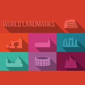 Colección de edificios emblemáticos del mundo