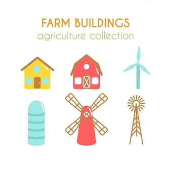 Colección de edificios de granja