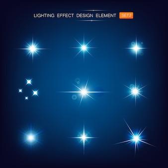 Colección de efectos de iluminación.
