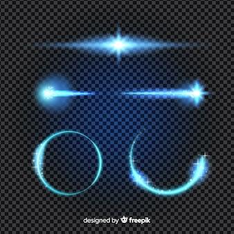 Colección de efectos de luz de tecnología