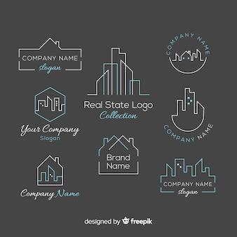 Colección elegante de logos de inmobiliaria