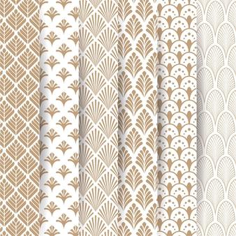 Colección elegante de patrones decorativos