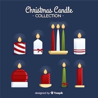 Colección elegante de velas de navidad