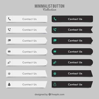 Colección de elegantes botones de contacto