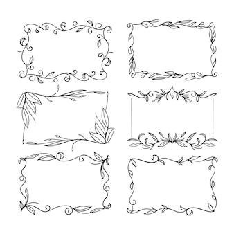 Colección de elegantes marcos ornamentales