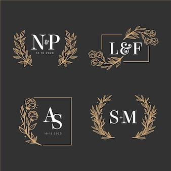 Colección de elegantes monogramas de boda
