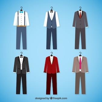 Colección de elegantes trajes de novio