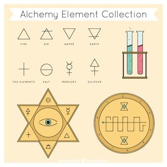 Colección de elementos de alquimia bonitos