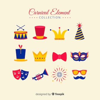 Colección elementos carnaval