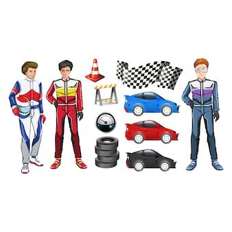 Colección de elementos de carrera