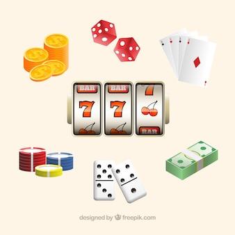 Colección de elementos de casino