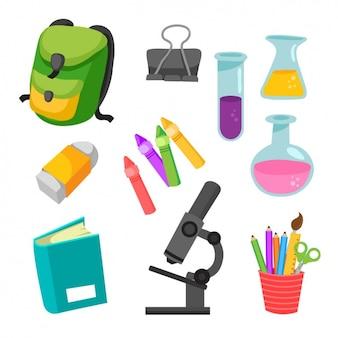 Colección de elementos de ciencia