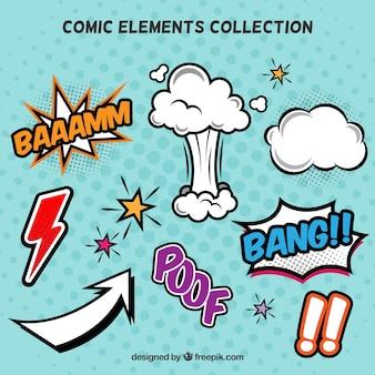 Colección de elementos de cómics