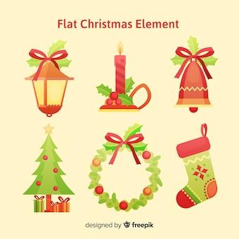 Colección de elementos decorativos de navidad