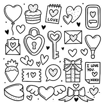 Colección de elementos del día de san valentín