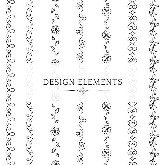 Colección de elementos de diseño divisor.