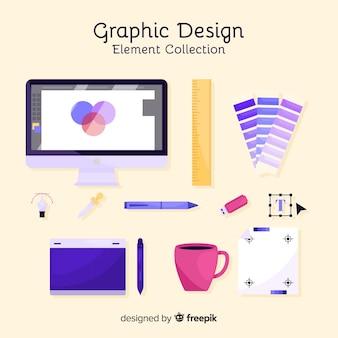 Colección de elementos de diseño gráfico