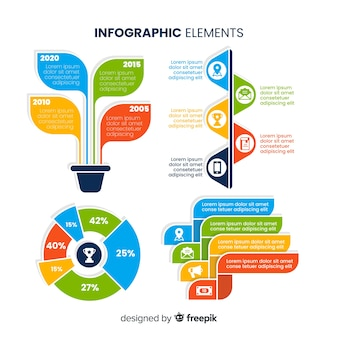 Colección de elementos de diseño infográfico