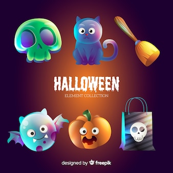 Colección de elementos divertidos de halloween