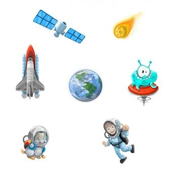 Colección de elementos del espacio