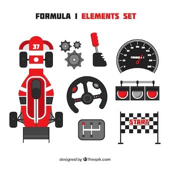 Colección de elementos de f1