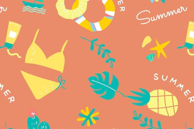 Colección de elementos de fondo de verano