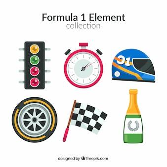 Colección de elementos de formula 1