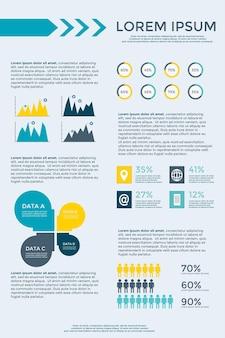 Colección de elementos de infografía para banner de diagrama de sitio web de folleto de presentación de folleto