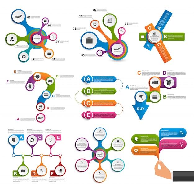 Colección de elementos de infografía. elementos de diseño vectorial.