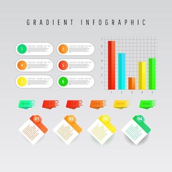Colección de elementos de infografías creativas modernas.