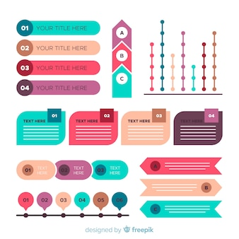 Colección de elementos de infografías