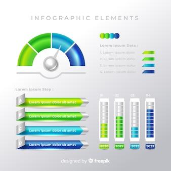 Colección de elementos infográficos coloridos