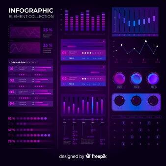 Colección de elementos infográficos modernos.