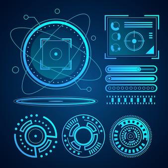 Colección de elementos informativos futuristas