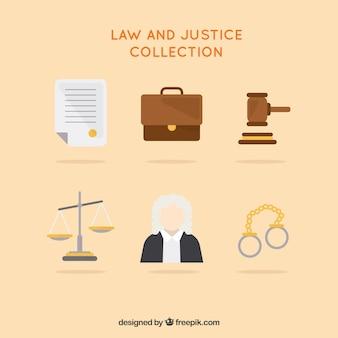 Colección de elementos de ley y justicia