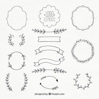Colección de elementos para logos