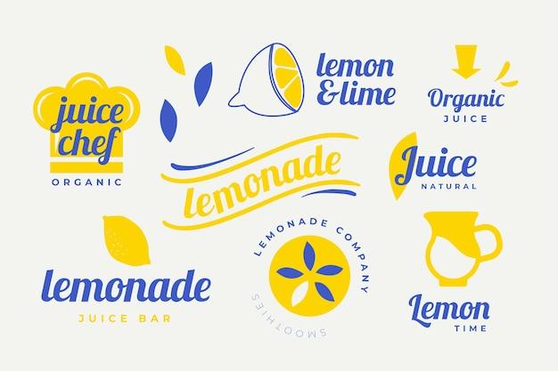 Colección de elementos de logotipo mínima en dos colores.