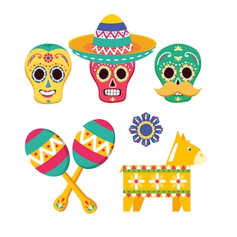Colección de elementos mexicanos