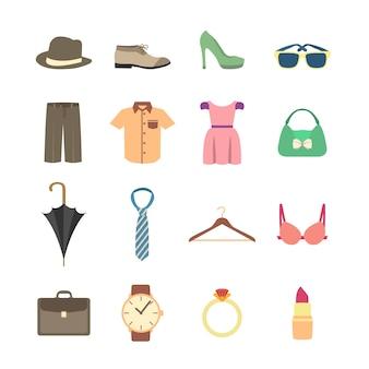 Colección de elementos de moda