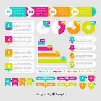 Colección de elementos modernos para infografías